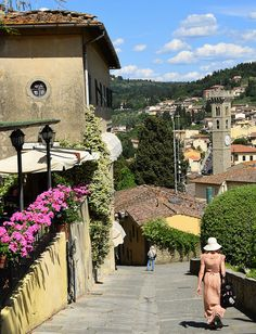 Stayed in Fiesole, Italy, at a pensione outside of Florence. I think it was the Villa Bonelli.