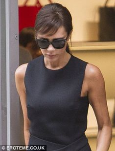 Hair muse: Victoria appeared to be channeling a young Audrey Hepburn with her short fringe