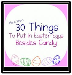 Great ideas! A lot of really good ideas and egg hunt tips in the comments section.