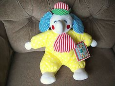 "Eden 13"" Hug 'N Chug Circus ELEPHANT Primary Colored Stripes Polka Dots LNWT"