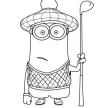 Minion Dave Coloring Page no show Coloring Pages for Kids