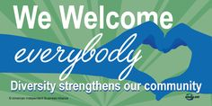 """Make a statement of inclusivity and respect with a free """"We Welcome Everybody"""" window-cling decal to display in your business, school, place of worship or other community-based location. Free Baby Samples, Free Samples By Mail, Independent Business, Window Decals, Free Baby Stuff, Hotel Deals, Public Relations, Windows And Doors, Welcome"""