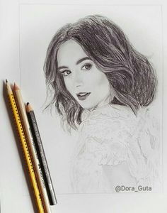 Drawing of Lily Collins