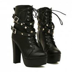 $24.89 Punk Style Women's Short Boots With Belt and Rivets Design