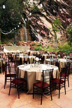 Tables de mariage montagne