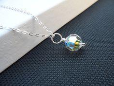 AB Crystal Drop Necklace Bridesmaids & by weddingbellsdesigns, $17.99
