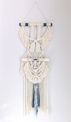 """HIMO ART for Urban Outfitters, Modern Macrame Wall Hanging, Rope art, """"Her Wings no.3"""""""
