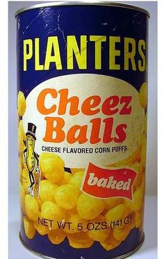 Oh my goodness....remember how nasty your hand would get rubbing all over the inside to grab your next cheez ball?? Always had these at dad's house.