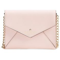 kate spade new york 'cedar street - monday' crossbody bag ($74) ❤ liked on Polyvore featuring bags, handbags, shoulder bags, purses, leather man bags, leather crossbody purses, handbags crossbody, shoulder handbags and envelope clutch