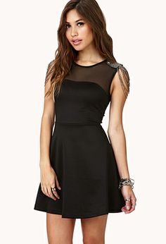 Luxe Fit & Flare Dress | FOREVER21 #little black dress