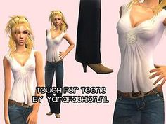 Mod The Sims - New Mesh! Boots and Pants for Teens!