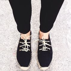 Soludos Black Lace Up Espadrilles Never worn Soludos Shoes