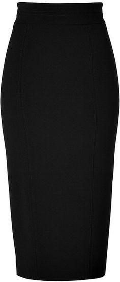 LWREN SCOTT High-waisted Pencil Skirt in Black - Lyst