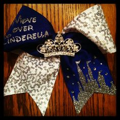 The Cinderella inspired Bow...email us at wild4bows@gmail.com and find us on Facebook at Wild For Bows (located in Drexel Hill, Pa)