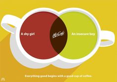 Print advertisement created by TBWA, Germany for McDonald's, within the category: Non-Alcoholic Drinks. Creative Advertising, Advertising Campaign, Coffee Advertising, Print Advertising, Mcdonalds, Design Thinking Process, Good Advertisements, Great Ads, Shy Girls