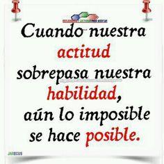 Actitud ...