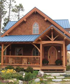Timber Frame House Plan of Hamill Creek Timber Homes Elevation