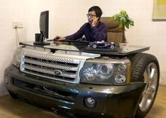 Funny pictures about Stylish desk. Oh, and cool pics about Stylish desk. Also, Stylish desk photos. Car Part Furniture, Unusual Furniture, Automotive Furniture, Furniture Design, Furniture Movers, Furniture Ideas, Automotive Group, Deck Furniture, Furniture Online
