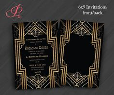 Plain The Great Gatsby Party Invitation 9 Following  Newest Article