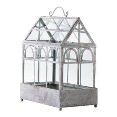 Cyan Design 04284 Terrarium Plant Container Candleholder in Antique White Terrarium Plants, Glass Terrarium, Terrarium Containers, Small Terrarium, Terrarium Ideas, Traditional Greenhouses, Dear Lillie, Decoration Plante, White Plants