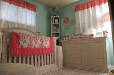 Robin's Egg Blue & Coral Nursery | Project Nursery - furniture (from babies r us)