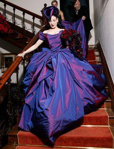 Dita Von Tesse at her wedding to Marilyn Manson | 10 Celebrity Brides Who Didn't Wear White | StyleCaster