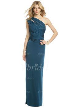Evening Dresses - $117.92 - Sheath/Column One-Shoulder Floor-Length Chiffon Evening Dress With Ruffle (01705021002)