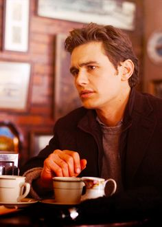 James Franco takes #coffee