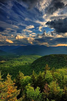 Little Crow Mountain looms in the foreground from the summit of Big Crow in New York's Adirondacks Mountains by Waterfall Guy