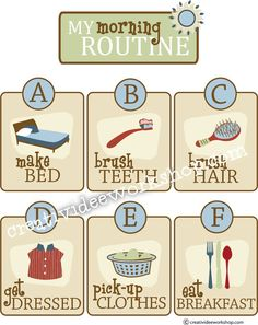 Looking for something similar to this.. routine cards/charts? Worried this one is too babyish for the 8 YO. #chores #charts #kids