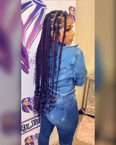 85 Box Braids Hairstyles for Black Women - Hairstyles Trends Black Girl Braids, Braided Hairstyles For Black Women, Braids For Black Hair, Girls Braids, Long Hairstyles, Big Twist Braids Hairstyles, Cornrow Hairstyles Natural Hair, 4 Braids Hairstyle, Wedding Hairstyles