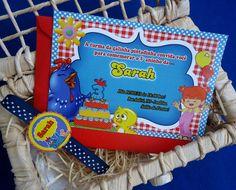Olha que lindo este convite da Galinha Pintadinha! <br> <br>Cores vivas, vibrantes! Feito com muito carinho!