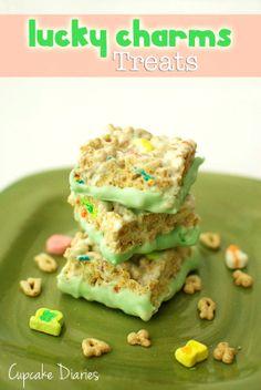 Lucky Charms Treats | CupcakeDiariesBlog.com