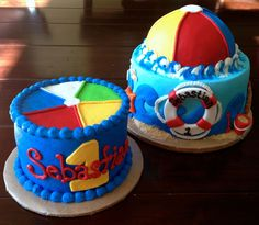 katycakes: Beach Ball Themed 1st Birthday and Smash Cake