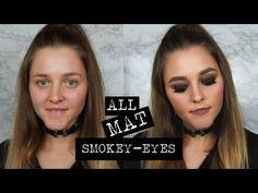 ALL MAT SMOKEY EYES MAKEUP LOOK [ITA] - YouTube
