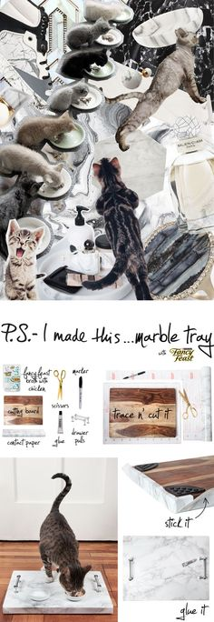 P.S- I made this… Marble Tray with @Fancy Feast #PSIMADETHIS #AD #WaysToWOW
