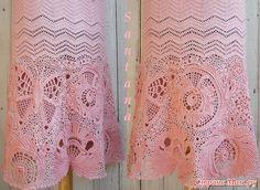 Irish crochet skirt http://www.stranamam.ru/post/6349951/