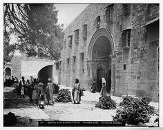 Jerusalem - القدس الشريف : مدخل دير الأرمن. (قبل 1914)