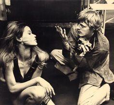 Verushka and David Hemmings in Blow Up (1966)