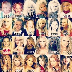Taylor... One pic from her life every year