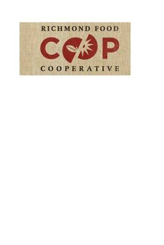 """I like the way Co-op is highlighted as a graphic although a bit redundant with """"cooperative"""" below it.  Background is burlap which I love"""