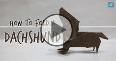 If you are a Dachshund lover you'll LOVE this video... It teaches you how to fold an Origami Dachshund! Paper used: 15cm x 15cm Kami Author: Fuchimoto Muneji Difficulty: Intermediate+