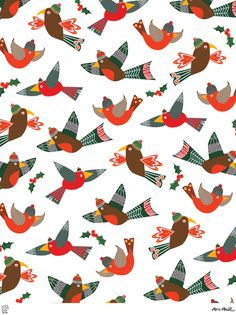 Seasonal Designs by Abi Hall, this would be lovely as Christmas wrapping