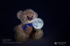 Teddy and the Moon by ckneidinger Teddy Bear Pictures, Bear Wallpaper, Love Bear, Cute Teddy Bears, Tatty Teddy, Bear Doll, Plushies, Friends, Betta