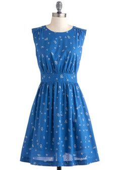 Too Much Fun Dress in Horseshoes, #ModCloth ... Love the color!