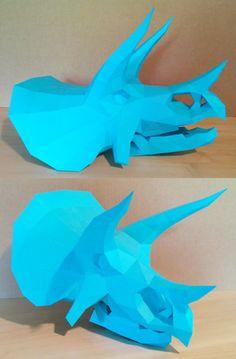Triceratops Skull Papercraft by Gedelgo on DeviantArt