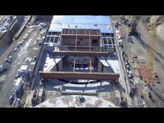New drone footage offering a closeup look at Apple Campus 2 construction progress has been posted by Duncan Sinfield. Apple Campus 2, Window Panels, Fair Grounds, Construction, Windows, House Styles, Glass, January 2016, Auditorium
