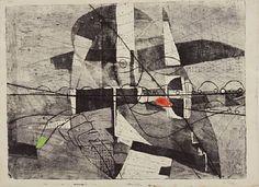 LUDVIG EIKAAS JØLSTER 1920 - OSLO 2010  Sjåføren Delvis håndkolorert radering, 49x64 cm Signert nede til høyre: Eikaas Edvard Munch, Oslo, Sculptures, Fine Art, Prints, Photography, Painting, Photograph, Fotografie