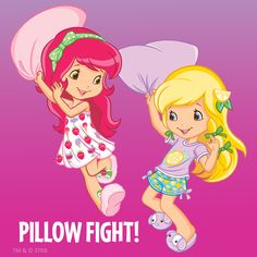 Pillow Fight with Strawberry Shortcake and Lemon Meringue