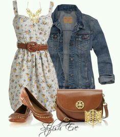 Floral & Jean combination